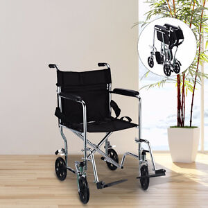 Folding Wheelchair with Padded Armrest