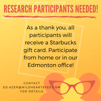 Research Participants Needed!!!
