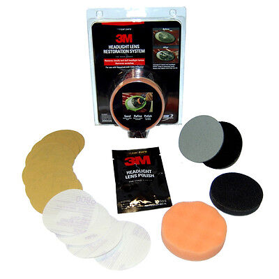 3M Headlight Headlamp Lens Restoration Polish Kit.U just need a drill.VideoBelow