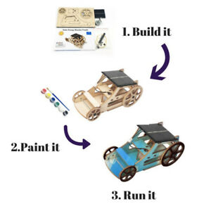 BRAND NEW - 3D DIY Wooden Solar Car Robotics Kit Solar Power