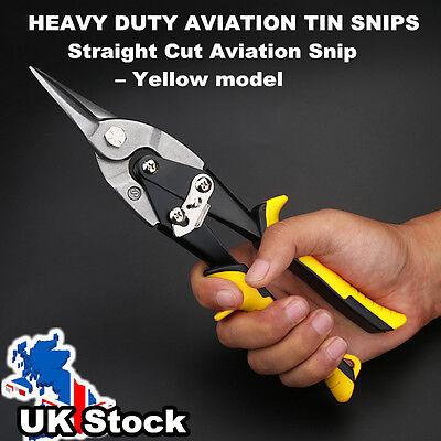 Heavy Duty Aviation Tin Snips Straight Cut Steel Sheet Metal Cutters UK Post