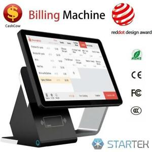 WOW ! POS TOUCH DUAL SCREEN ELECTRONIC CASHIER SYSTEM -NEW- POINT OF SALE  FULLY EQUIPED - FREE SHIPPING- 1 Y GUARANTEE