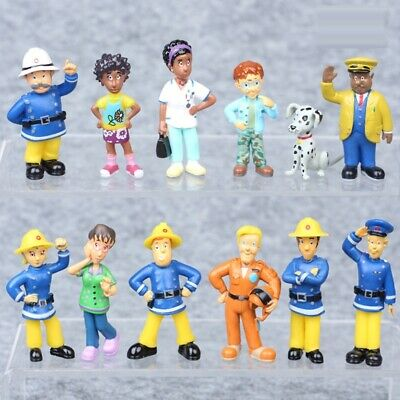 Firefighter Cake Topper (12 PCS Fireman Sam Elvis Penny Action Figures Playset Cake Topper Party Toy)