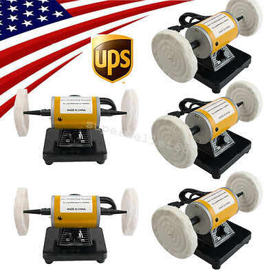 5x Usa Mini Polisher Polishing Machine Lathe Benchtop Grinder Jewelry Dental Fda