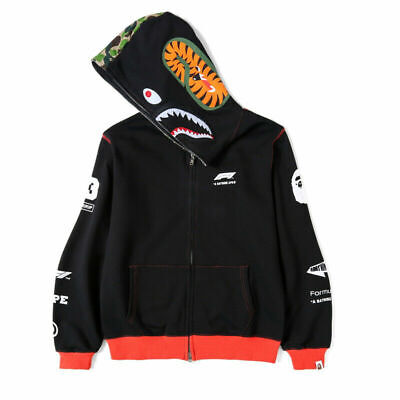 Men A Bathing Ape Bape Hooded Jacket Hoodie Jacket Sweatshirt Coat Plus Fleece