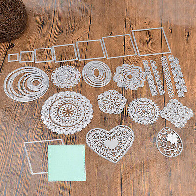 Various Shape Metal Cutting Dies Stencils DIY Scrapbook Paper Card Handmade