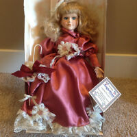 """17"""" collector's porcelain doll"""