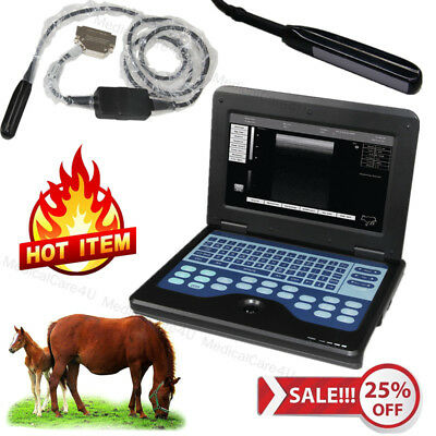 Portable Ultrasound Scanner Veterinary Machine 7.5m Rectal Probe Horsecowsheep