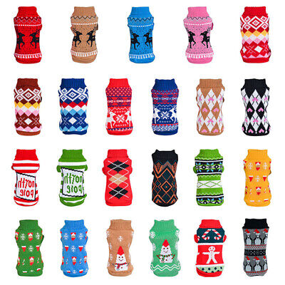 Dog Pet Winter Christmas Clothes Warm Sweater Knitwear Puppy Jumper Tops Apparel ()