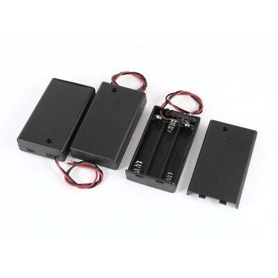3 Stueck Zwei-Draht EIN/ AUS-Schalter 3 x 1,5 V AAA Batterie Halter mit Decke