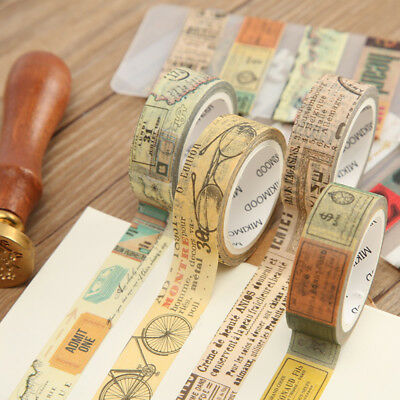 Retro Decorations Washi Masking Tapes Scrapbooking Paper Craft Handwork DIY - Retro Decorations