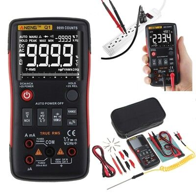 Q1 True-rms Digital Multimeter Auto Button 9999 Counts Analog Bar Graph Tester