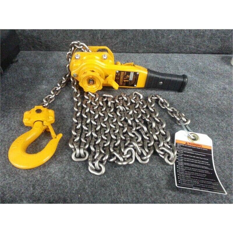 Harrington LB015 1-1/2 Ton Lever Chain Hoist 20ft Lift Capacity, No Box*