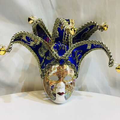 Mardi Gras Ball Decorations (Blue Women Venetian Mardi Gras Mask For Masquerade Party Prom Ball Wall)