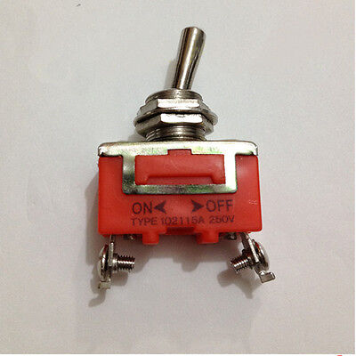 Onoff 2 Position Toggle Switch Ac 250v 15a Practical 12mm Panel Mount Spst