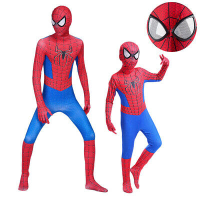 Spiderman Kostüm Kinder Erwachsene Cosplay Karneval Marvel Overall Spielanzug
