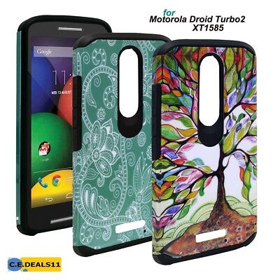 For Motorola Droid Turbo 2 XT1585 Hybrid Hard Slim Astro Duo Armor Case