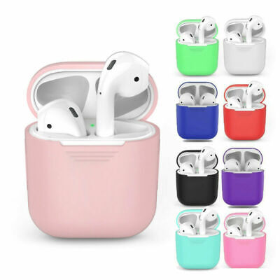 Silicone Case For Apple AirPods 1&2 Charger Earphone Cases Charging Phone Cover