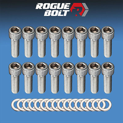BBC INTAKE MANIFOLD BOLTS STAINLESS STEEL KIT GM 396 402 427 454 BIG BLOCK CHEVY