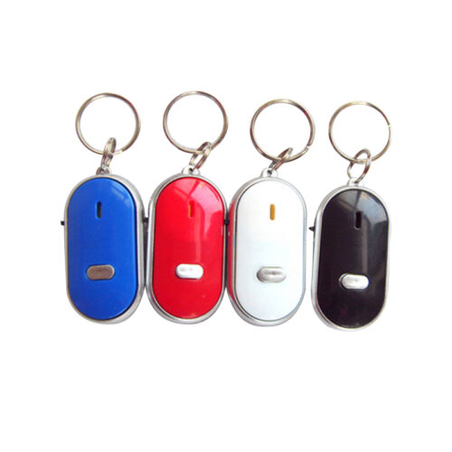 Wireless Anti-Lost Key Finder Locator Whistle Sound LED Light Keychain 4Color.US