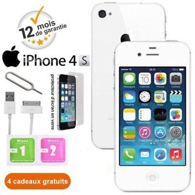 Apple iPhone 4S 8Go Blanc Usine DÉBLOQUÉ Téléphones Mobiles - Qualité A+ FR