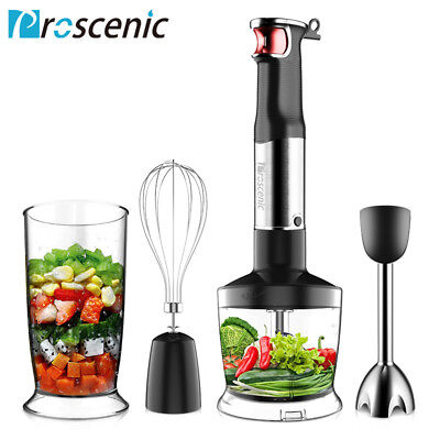 Proscenic 800W Stainless Protect Portable Stick Hand Blender Mixer Processor 4 In1