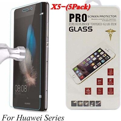 5Pack Tempered Glass For Huawei P8/P9/P10Plus/Lite Honor 6 7 8 9 Y5 Y6 Y7 2017](huawei p10 plus screen protector)