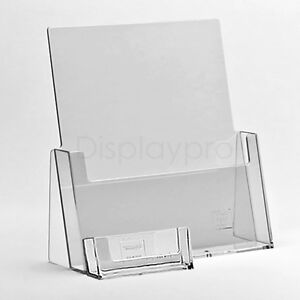 A6 DL A5 & A4 Leaflet Holders Menu Display Stand and Business Card ...