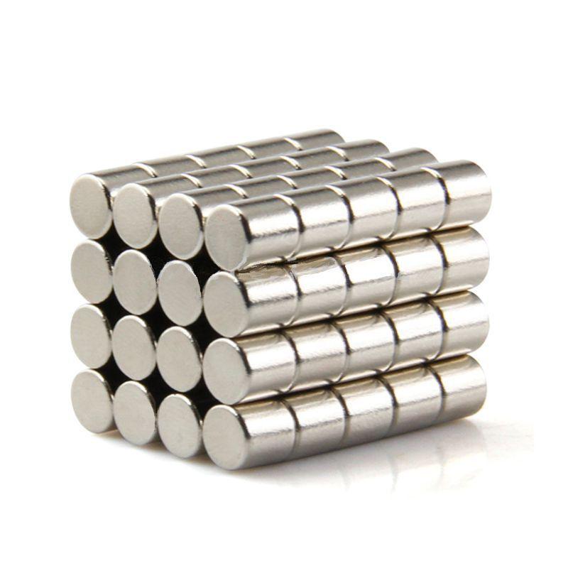 Neodym Magnete super stark Scheiben Würfel N35 N45 N50 doppelt vernickelt Scheibe - Ø 5 X 5mm