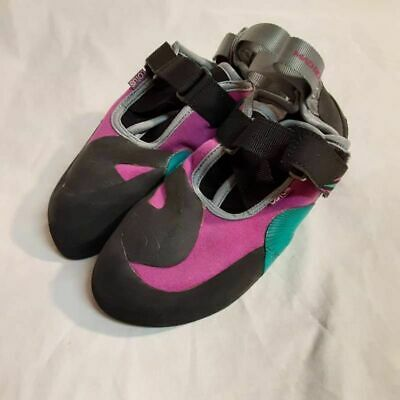 Mad Rock Womens Lotus Climbing Shoes Purple Color Block Hook And Loop 6 M New