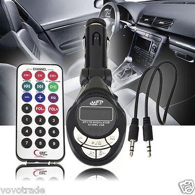 Car USB 4in1 FM Transmitter MP3 Player Pipa Wireless  MMC Remote CONTROL