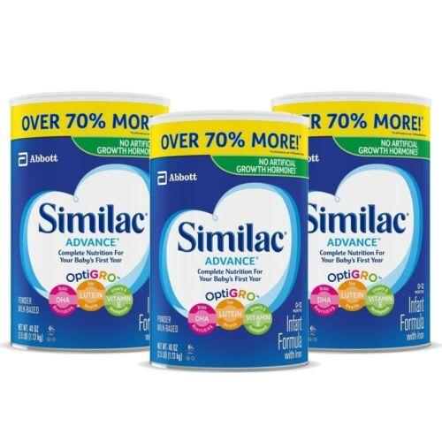 Similac Advance Infant Formula with IRON & OPTIGRO 40 oz ( 3 CAN ) EXP 04/2024