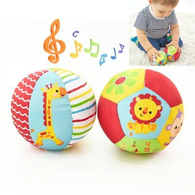 Baby Animal Ball Crib Sport Toy Soft Plush Mobile Toys Sound Rattle 0-12 Months