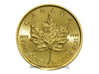 Uncirculated 2017 1/2oz Gold Canadian Maple Leaf coin