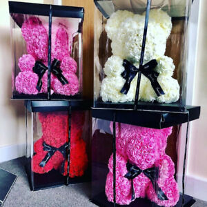 Need a gift for Valentines day? Rose Teddy Bear & Rose Box
