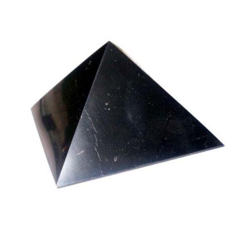 Shungite Pyramid POLISHED 70 x 70 mm EMF Shield Healing Stone