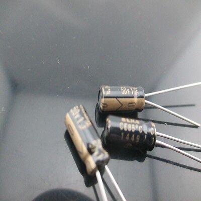 10pcs Elna Cerafine Roa 1mfd 50v 1uf 5x11mm Electrolytic Capacitor