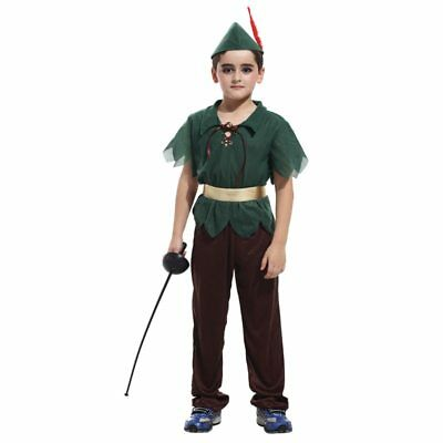 Halloween Party Costumes Kids Child Green Forest Peter Pan Costume for Boy - Peter Pan For Halloween