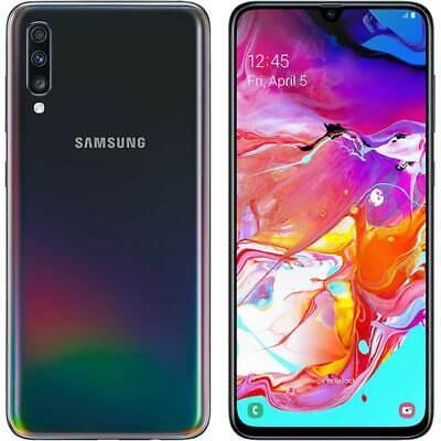 SAMSUNG A705 Galaxy A70 4G 128GB Dual SIM black NERO GARANZIA EU NO BRAND NUOVO