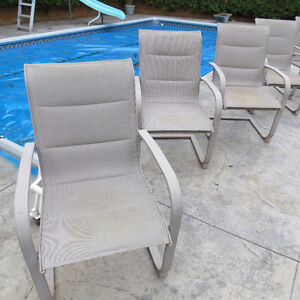 5 Padded Patio Chairs