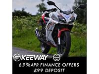 Keeway RKR 125cc Full Fairing Sports Bike Leaner Legal Geared Motorcycle