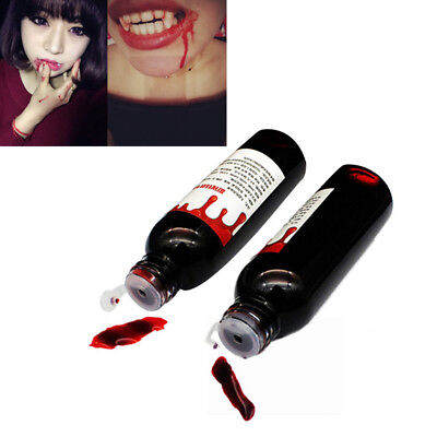 Halloween Realistic Fake Blood Vampire Zombie Makeup Accessory Cosplay Props Hot - Womens Halloween Makeup
