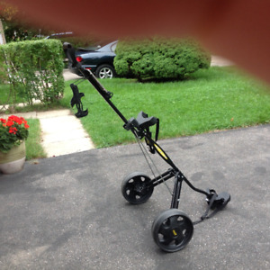 Bag Boy Golf Pull Cart w/ wide wheels. Excellent condition