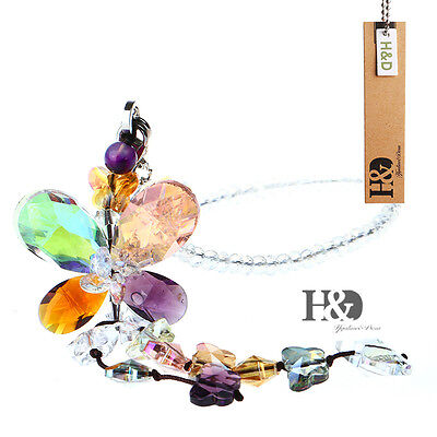 Colourful Butterfly Crystal Suncatchers Prisms Hanging Fengshui Rainbow Pendants
