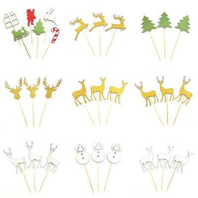 Weihnachtskuchen Dekoration Karte Flagge Cupcake Toppers Birthday Party Supplies