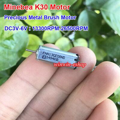 Minebea K30 Mini Motor Dc3v 5v 6v 26500rpm High Speed Precious Metal Brush Motor