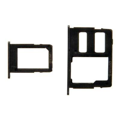 SIM Micro SD Card Tray Set for Samsung Galaxy J7 Max G615/2017 Black