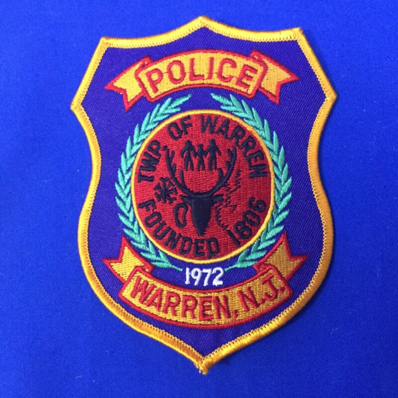 Police Warren N J Shoulder Patch FREE SHIPPING