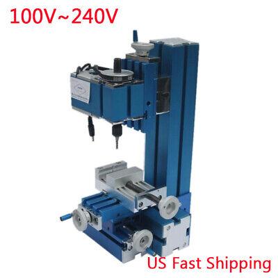 Us Mini Milling Machine Diy Woodworking Metal Aluminum Processing Tool 100240v