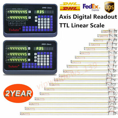 2axis3axis Digital Readout Dro Display Linear Scale Encoder For Mill Lathe Us
